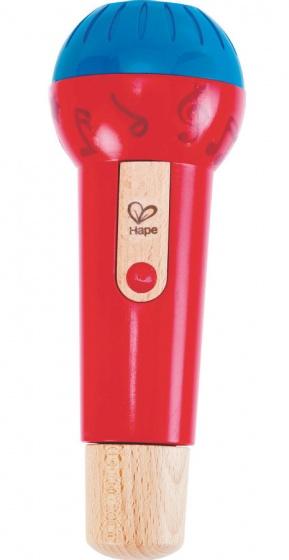 Hape microfoon Mighty Echo 22 cm rood