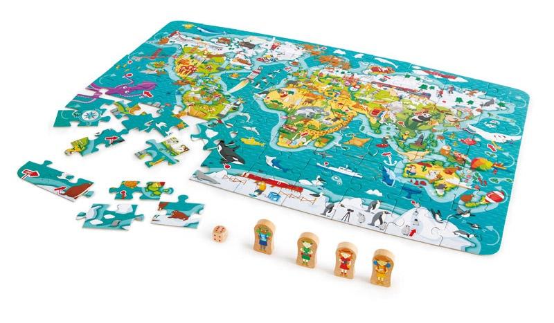 Hape puzzel en spel wereldtournee 100stukjes