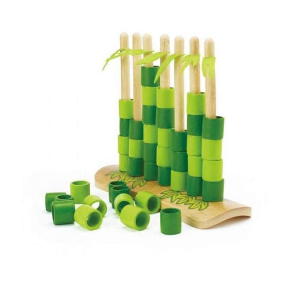 Hape Quattro bamboespel vier op een rij groen