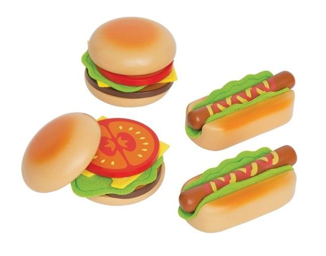 Hape houten hamburgers & hotdogs