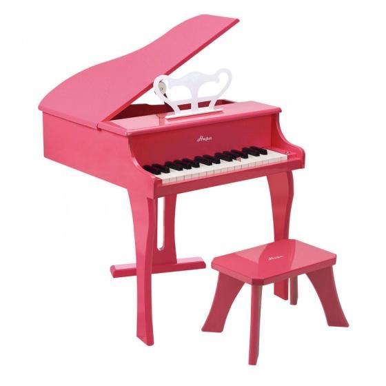 Hape Houten grote kinderpiano roze