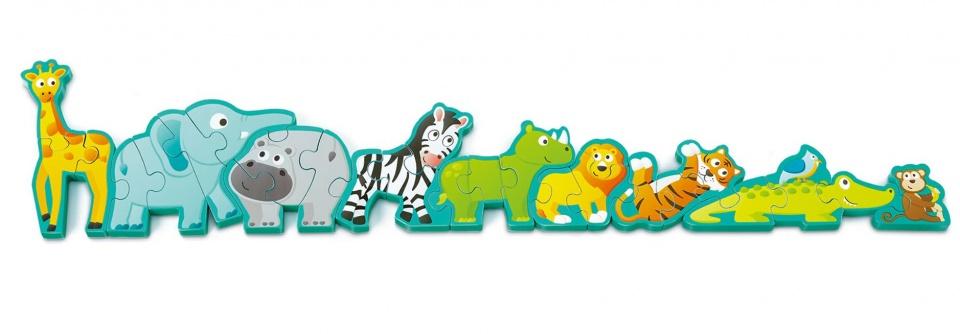 Hape vormenpuzzel dieren en alfabet hout 78 cm 26 delig
