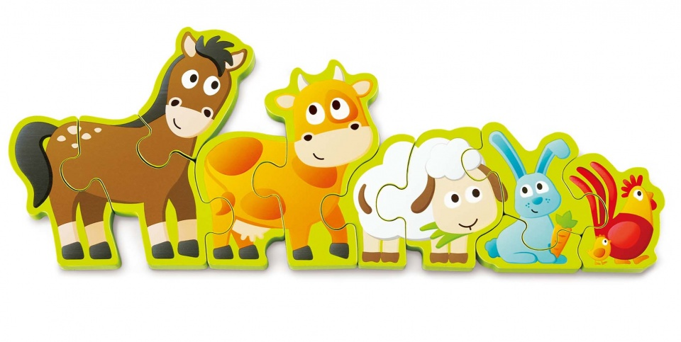 Hape vormenpuzzel dieren en getallen hout 34 cm 10 delig