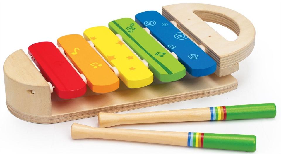 Hape houten regenboog xylofoon