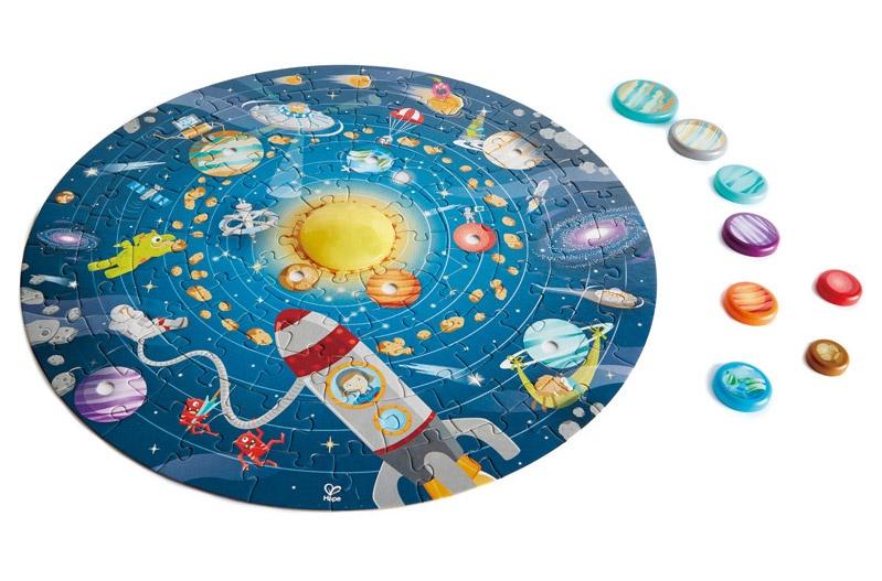Hape zonnestelselpuzzel 103 delig