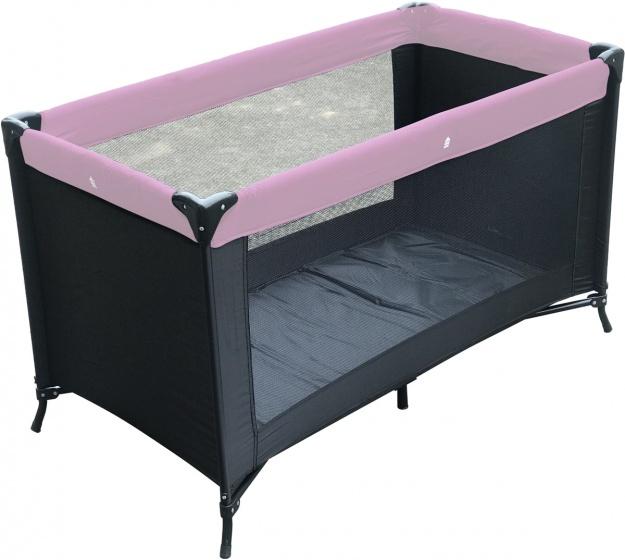 Happy Baby campingbed Charlene 60 x 120 cm zwart-roze