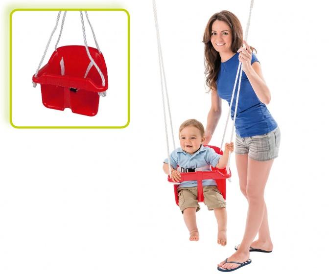 Happy People babyschommelzitje met touw 31 cm rood