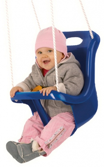 baby swing seat with rope 45 cm blue