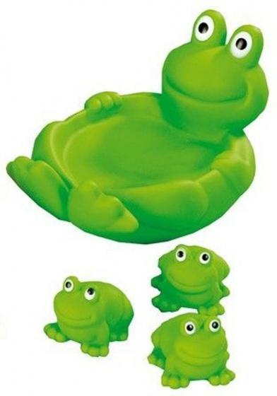 Happy People badfiguren kikkers 19 x 13 cm groen