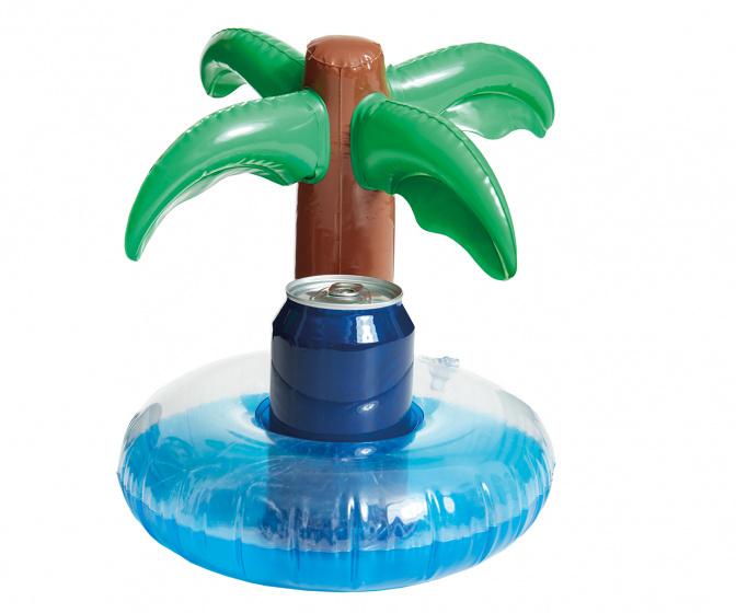 Happy People opblaasbare bekerhouder Palmboom 25 cm