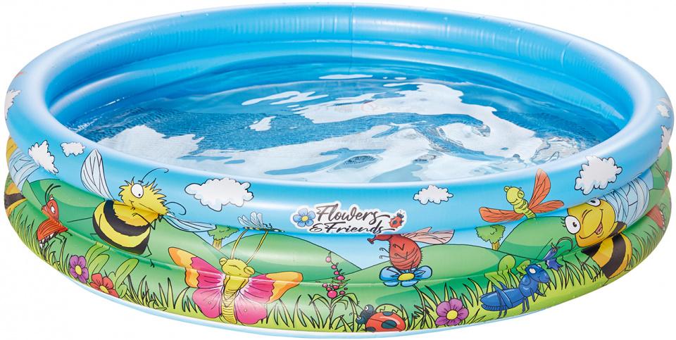 Happy People opblaaszwembad 100 x 23 cm blauw