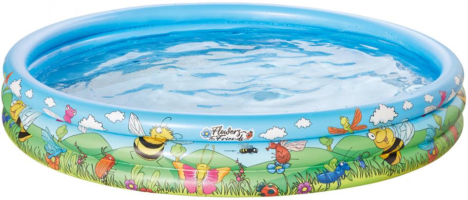 Happy People opblaaszwembad 150 x 25 cm blauw