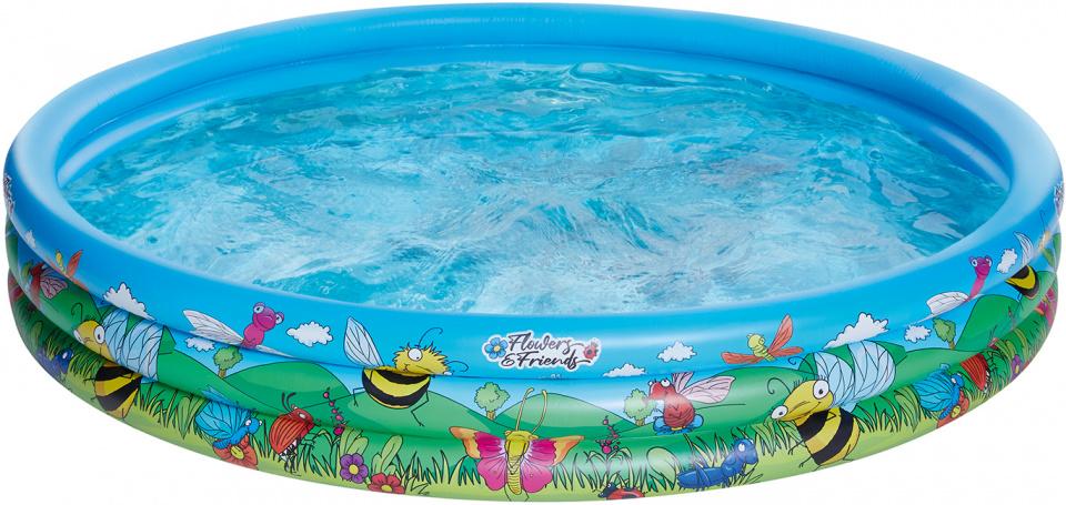 Happy People opblaaszwembad 178 x 30 cm blauw