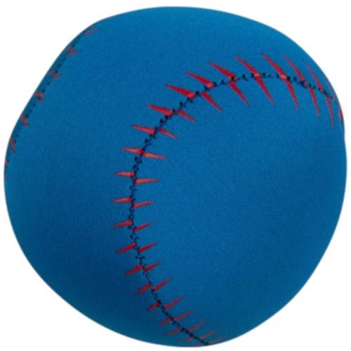 Happy people Splashbal baseball 13 cm foam blauw