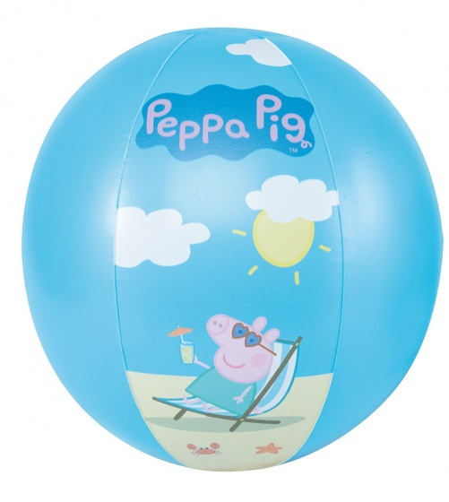 Happy people strandbal Peppa Pig 29 cm blauw