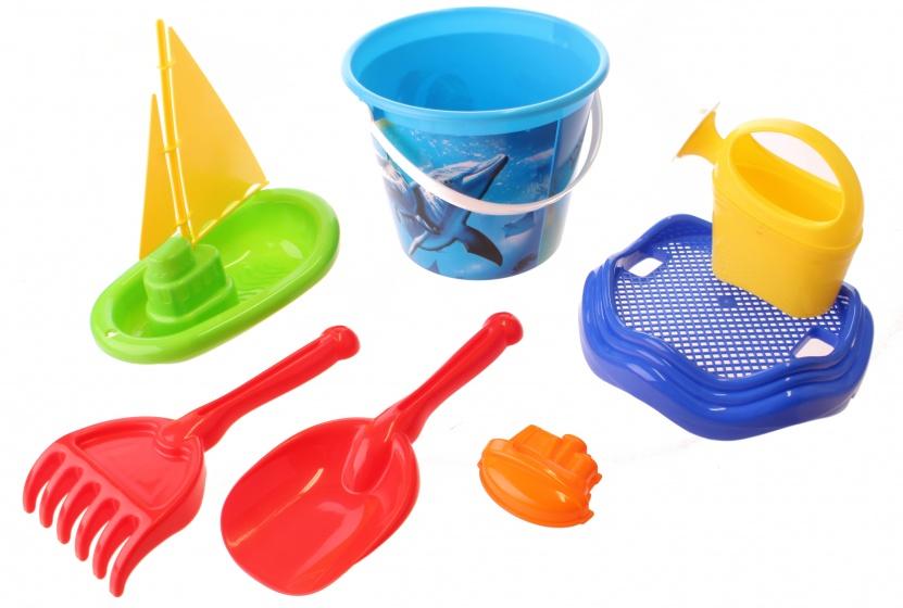 Happy People strandspeelgoed set emmer 24 cm 7 delig