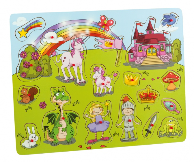 Happy People vormenpuzzel sprookjes 20 stukjes 45x35 cm