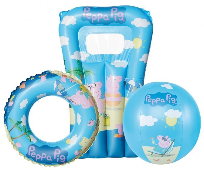 Happy People waterspeelset Peppa Pig 3 delig blauw