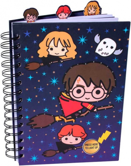Harry Potter notitieboek met dividers/LED junior A5 blauw