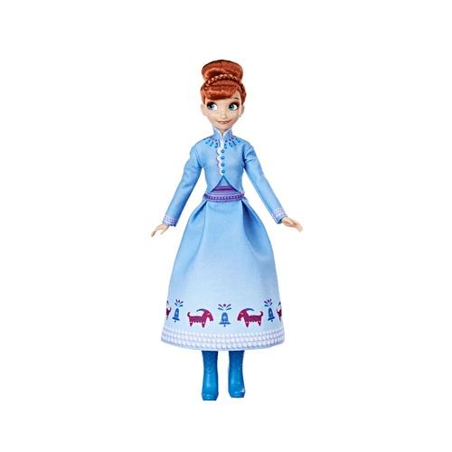 Hasbro Disney Frozen tienerpop Anna 28 cm meisjes blauw