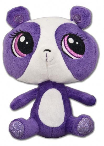 Hasbro Littlest Pet Shop Penny Panda knuffel paars/wit 19 cm