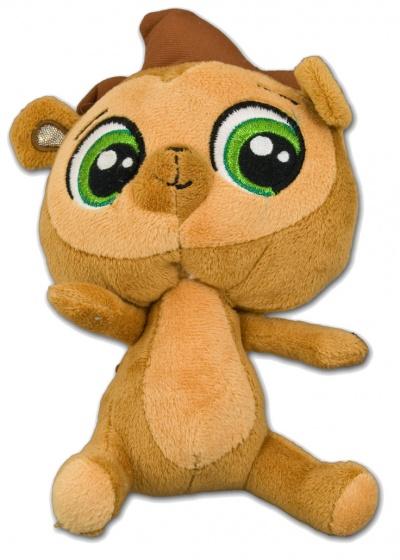 Hasbro Littlest Pet Shop Russel egel knuffel bruin 19 cm