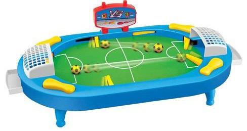 Hayabusa Flipper voetbalspel 45 x 22 x 15 cm blauw/geel