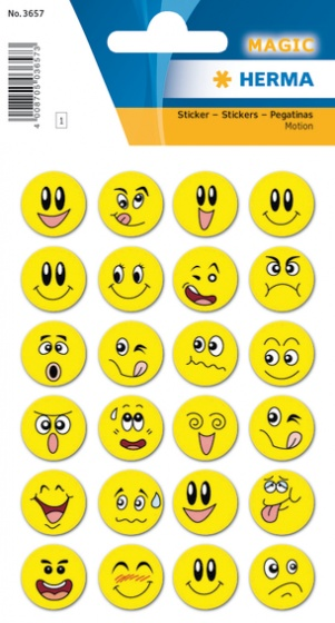 Haza Original stickers smiley geel 24 stuks