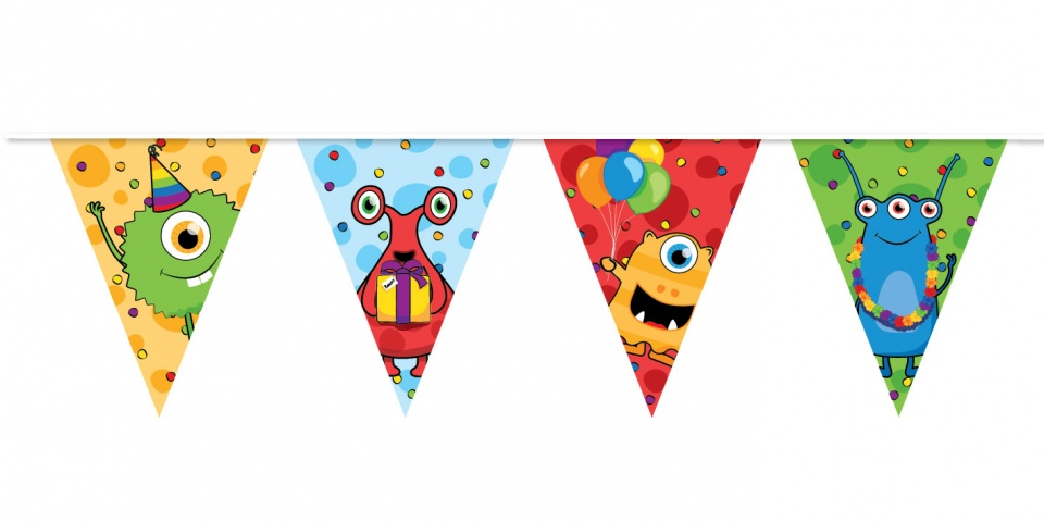 Haza Original vlaggenlijn monster party 10 meter