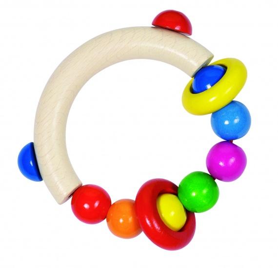 Heimess Bijtring Rond Parels en 2 Ringen 8,5 cm