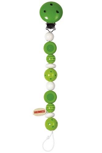 Heimess Fopspeenketting Gestreepte en Groene Kralen 21cm