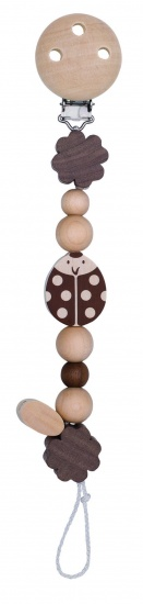 Heimess Fopspeenketting Lieveheersbeestje 21 cm Bruin