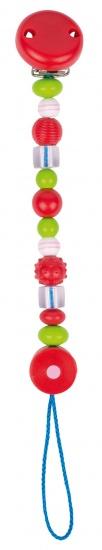 Heimess Fopspeenketting Roze Parel Met Strepen Plastic 21 cm