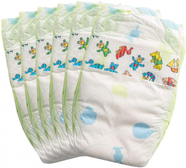 Heless dolls diapers junior 35-50 cm polyester white 6 pieces