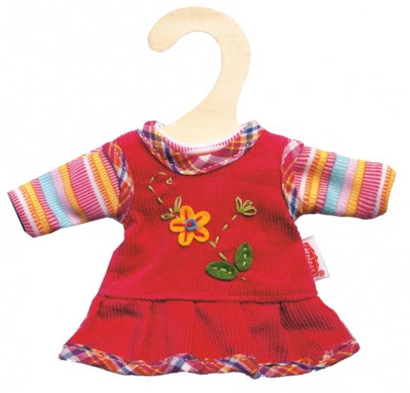 Heless poppenjurkje met shirt rood voor pop van 20 25 cm
