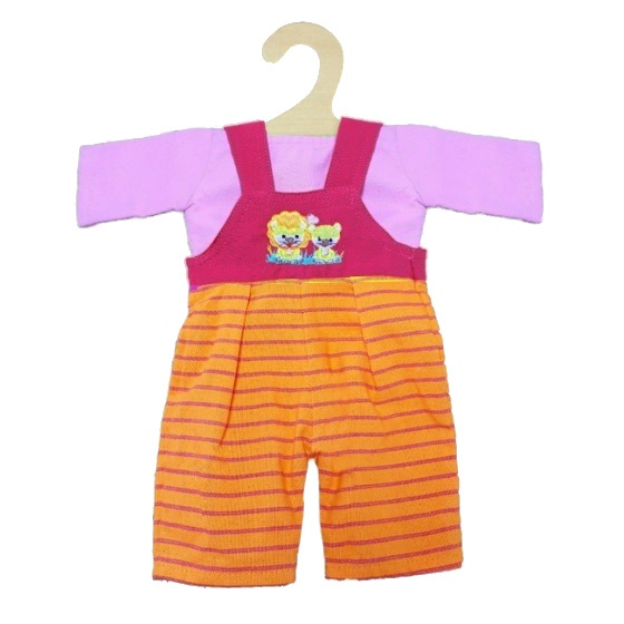 Heless poppenkleding tuinbroek roze/oranje 35 45 cm