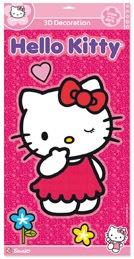 Hello Kitty 3D Sticker meisjes roze 28,5 x 57 cm
