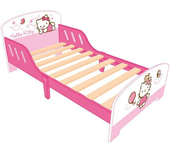 Hello Kitty Bed meisjes roze/wit 140 x 70 cm