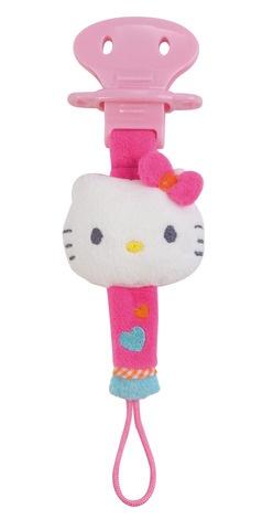Hello Kitty Fopspeenketting knuffel roze 21.5 cm