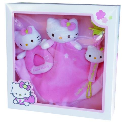Hello Kitty Geschenkset 3 delig meisjes roze 29 x 7 x 29 cm