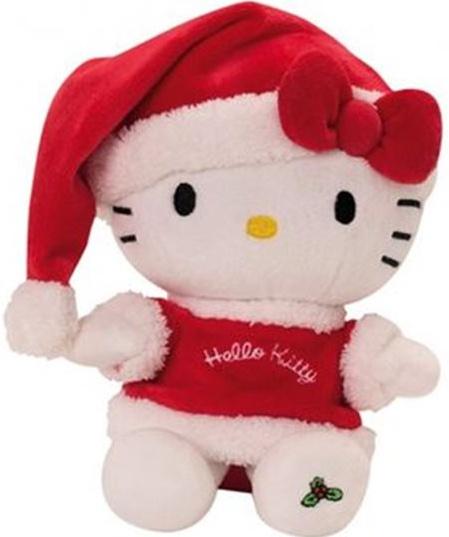 Hello Kitty Knuffel Christmas meisjes rood 20 cm