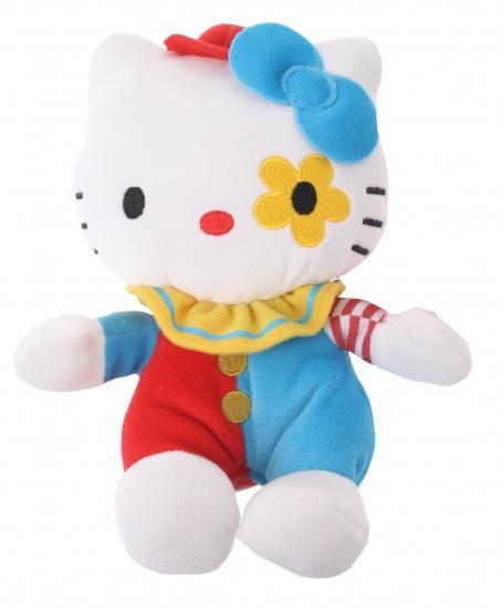 Hello Kitty Knuffel Clown meisjes blauw 17 cm