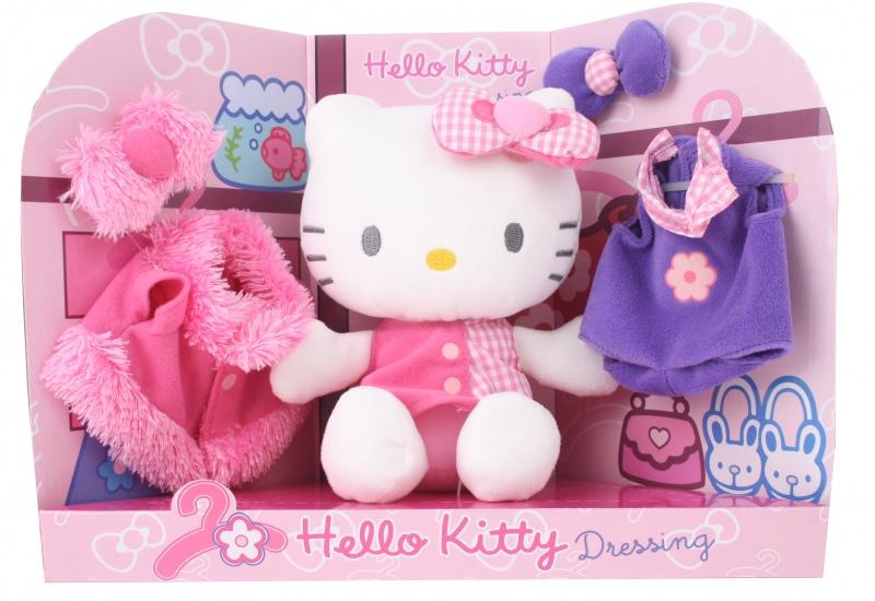 Hello Kitty Knuffel Dressing meisjes roze 21 cm