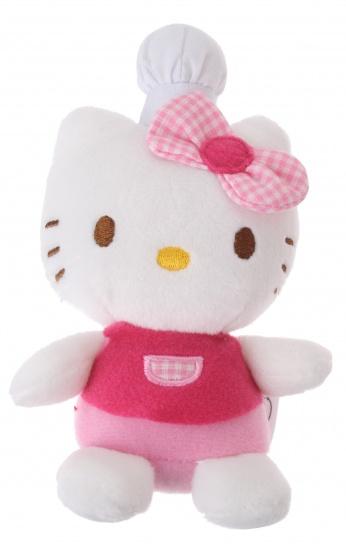 jemini hello kitty knuffel fait la cuisine meisjes roze 11 cm internet toys. Black Bedroom Furniture Sets. Home Design Ideas