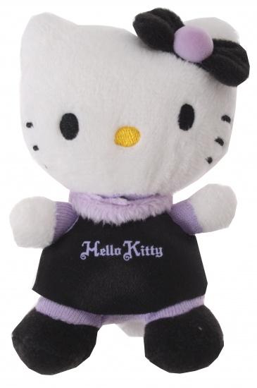 Hello Kitty Knuffel Mini meisjes paars 10 cm