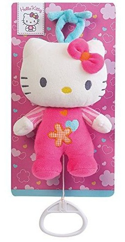 Hello Kitty Knuffel Musicale meisjes roze 17 cm