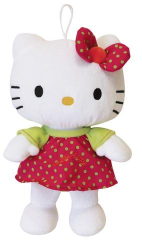 Hello Kitty Knuffel Polka meisjes rood 27 cm