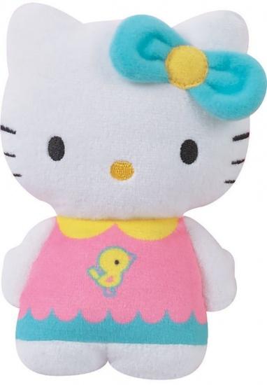 Hello Kitty Knuffel portemonnee meisjes blauw 15 cm