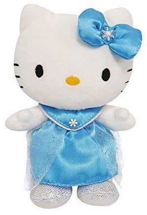 Hello Kitty Knuffel Princess meisjes blauw 17 cm