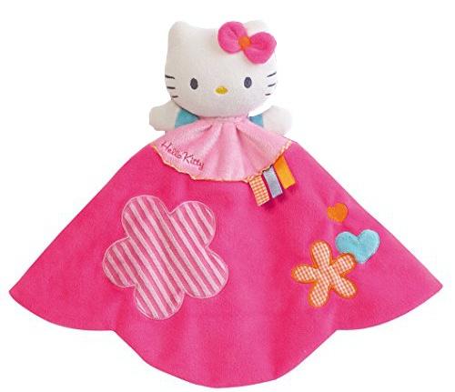Hello Kitty Knuffeldoekje Doudou roze 27.4 cm